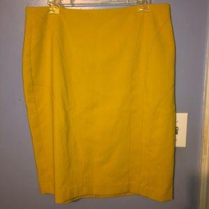 Banana Republic Yellow Skirt
